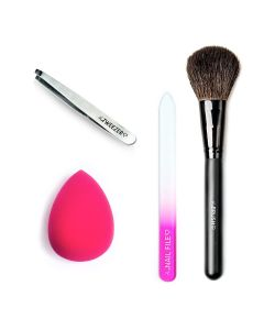 Combideal The Tweezer Slant Black + The Nailfile Small + The Make-Up Blender Pink + The Brush Puderpinsel